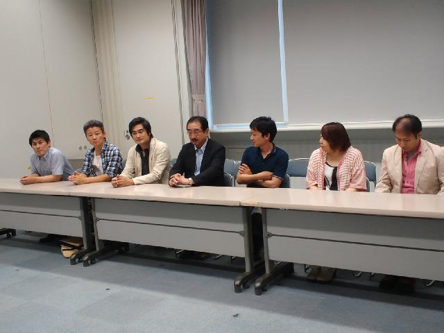 長崎県演劇人協議会記者会見の際の写真